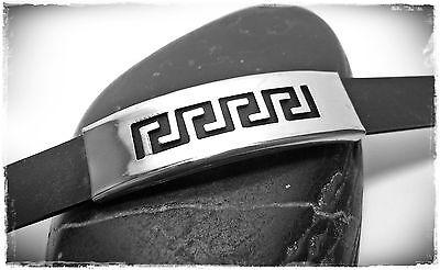 Kompetent Neu 20cm Edelstahlarmband Griechisch. Muster Kautschuk Kürzbar Edelstahl Armband