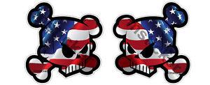 Details about 2x Racing Skull USA U S  Flag Sticker Decal Car Bike ATV  Tuning Block Fox Quad