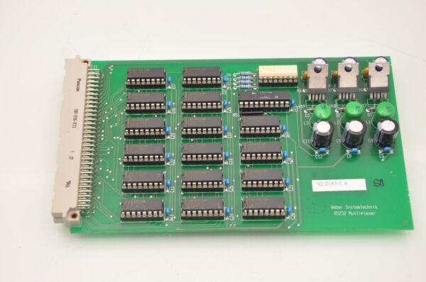Weber Systemtechnik RS232 Multiplexer 02-2183-1 6 Card
