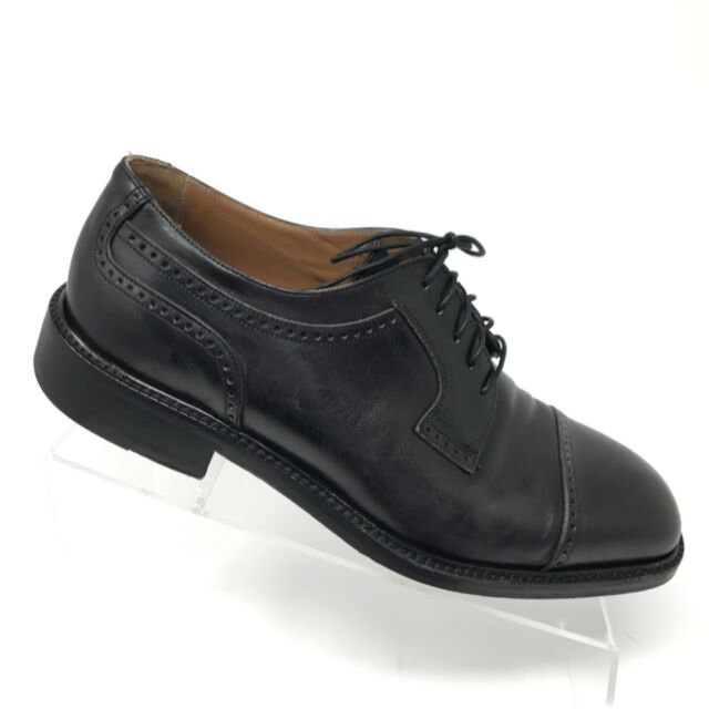 7601f5758aaca Florsheim Imperial Black Leather Cap Toe Oxfords Mens Shoe SIZE 9 D Italy