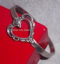 Towle Sterling Silver 1977 Grand Duchess Pattern Open Heart Bride Gift Bracelet
