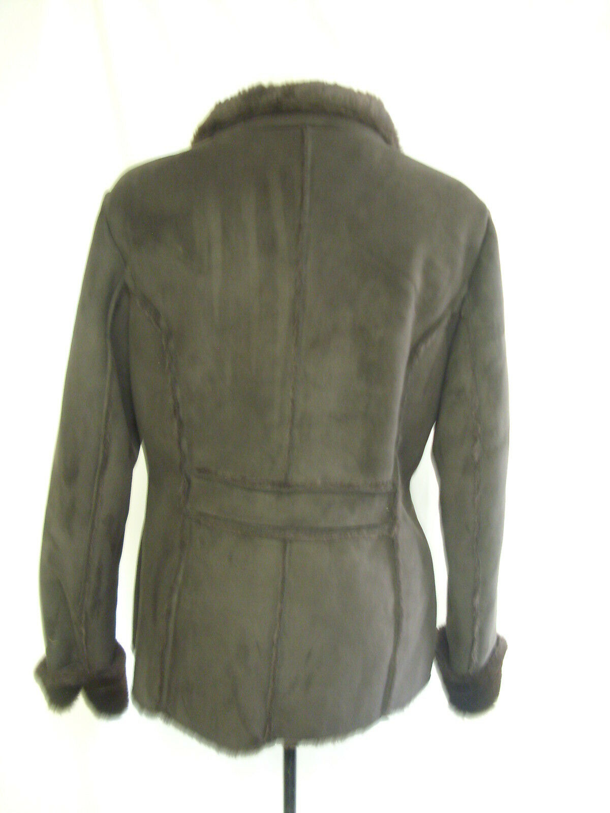 Ladies Coat - Avenue, Size 14, Chocolate Brown, 100% Polyester,- 1568