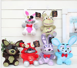 6PCS-Funko-FNAF-Five-Nights-At-Freddy-039-s-PHANTOM-FOXY-Marionette-Plush-Doll-Toy