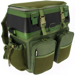 Fishing-Seat-Box-amp-Rucksack-Fly-Sea-Coarse-Fishing-Seat-Back-Pack-Ruck-Sack-NGT