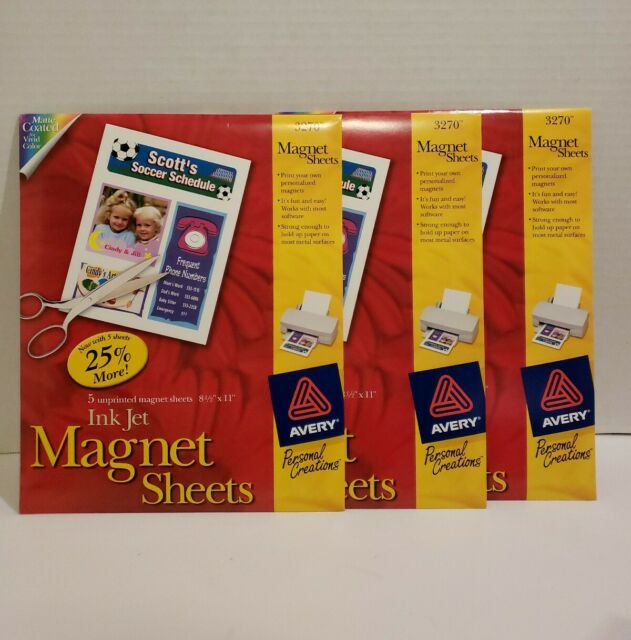 This is a picture of Printable Magnet Sheets in vinyl