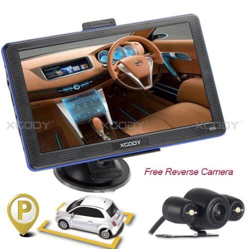 "7/"" Car Truck 8GB GPS Bluetooth Navigation Navigator Wire Rear View Camera US Map"