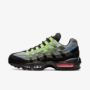 release date: 13008 e6c0e Details about New Nike Men's Air Max 95 Woven - Black/Photo Blue/Volt/Solar  Red(AQ0764-001)