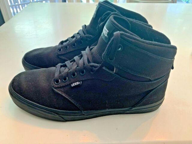e08ef5fad5c59 Vans ATWOOD HI Canvas Black Men's Skate Shoes Size 10.5 US