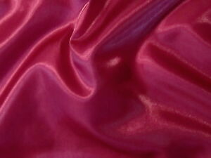 Stunning PINKISH RED SHIMMERY Sheer ORGANZA Solid Fabric