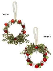 Ganz-H9-Kuessen-Kristalle-Teeny-Perlen-Kranz-3in-Ornament-KK379-Waehle