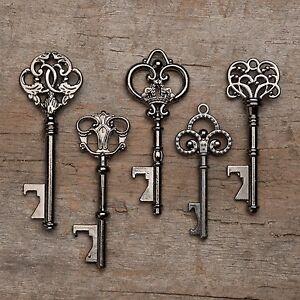 Vintage Skeleton Keys Gold Wedding Favors 50 Assorted Key Bottle Openers
