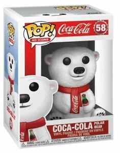 Coca-Cola-Polar-Bear-Ad-Icons-Funko-Pop-Vinyl-New-in-Mint-Box-Protector
