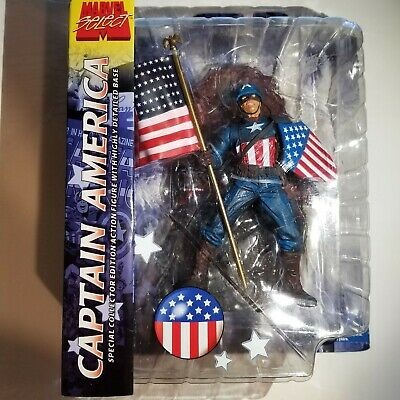 "Marvel Diamond Select Captain America /""Liberty/"" Action Figure 2012 BRAND NEW MOC"