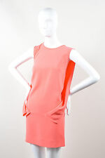 Robert Rodriguez NWT $345 Neon Pink Structured Draped Sleeveless Dress SZ 4