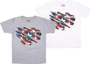 Marvel-Captain-America-Boys-Kids-T-Shirt-Tee-White-or-Grey-Ages-7-12