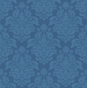 Image Is Loading WALLPAPER BY THE YARD Blue Damask Wallpaper CKB77724