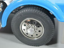 Pair Alum Front Hubs Cover Wheel Nut for Tamiya RC 1/14 Globeliner Scania Semi