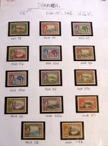 LOT-OF-15-OLD-DOMINICA-STAMPS-SG99-108-FULL-SET-MINT-KGVI
