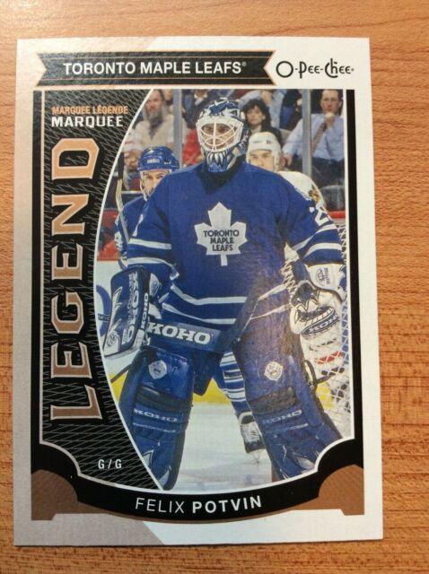 O-Pee-Chee 2015-2016 MARQUEE LEGENDS FELIX POTVIN HOCKEY CARD #581