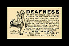 Enmarcado década de 1800 Medicina impresión: sordera? Wilson's sentido común Medico para orejas de tambor