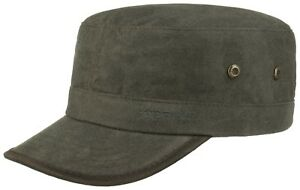 Stetson Army Cap Army Style Cap Cotton Cotton 3 Dark Grey Trend NEW ... b0503b802b5