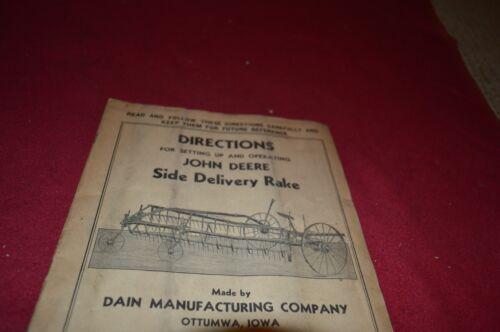 John Deere Side Delivery Rake Operator/'s Manual DCPA3 ver3