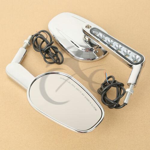 TCMT Rear View Mirrors Muscle LED Turn Signals Light For Harley V-ROD VROD VRSCF