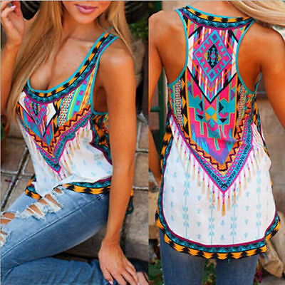 Fashion Womens Summer Vest Top Sleeveless Shirt Blouse Casual Tank Tops T-Shirt