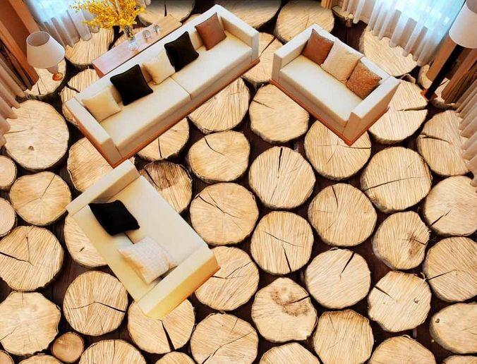 3D legno terra albero Pavimento Foto Wallpaper Murales Muro Stampa Decalcomania