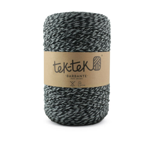 Crafting Cotton 6ply BLACK /& WHITE  New Cotton Knit Crochet Weave 220m washable