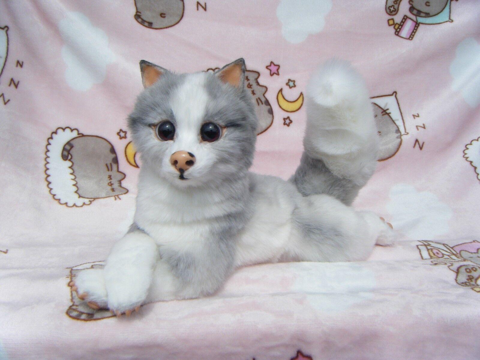 Ooak Artist Bear Polar Fox by Asel Rin   Monkey Business Toys (Russia) 1   1