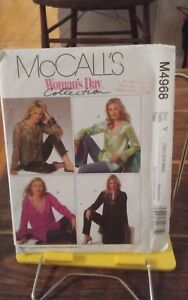 Oop-Mccalls-Womans-Day-4968-misses-tunic-tops-3-lengths-variations-size-4-14-NEW