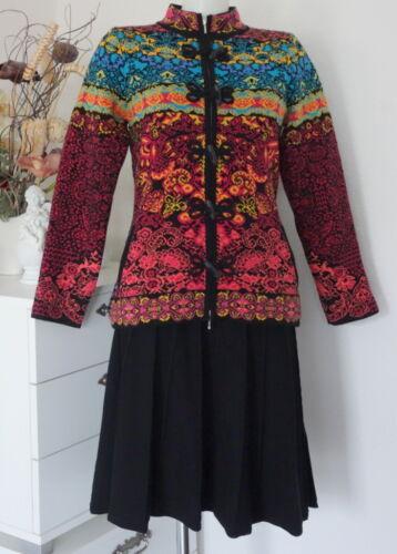 KOOI knitwear Jacke Mantel Lamm-wolle lambswool bunt multicolor jc17130