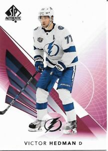 Victor-Hedman-7-2017-18-SP-Authentic-Base-Limited-Red