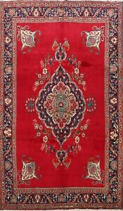 Vintage Traditional Hand-knotted Area Rug Floral Oriental Wool Carpet 7'x10' RED