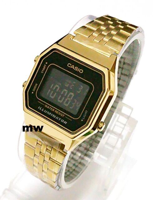 LATEST CASIO LA680WGA-1B LA680GA VINTAGE DIGITAL WOMEN'S GOLD WATCH NEW