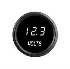 52mm 2 1/16 in Digital VOLTMETER Intellitronix WHITE LEDs! Black Bezel Warranty!