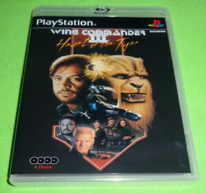 Empty Replacement Case Wing Commander Iii 3 Sony Playstation 1