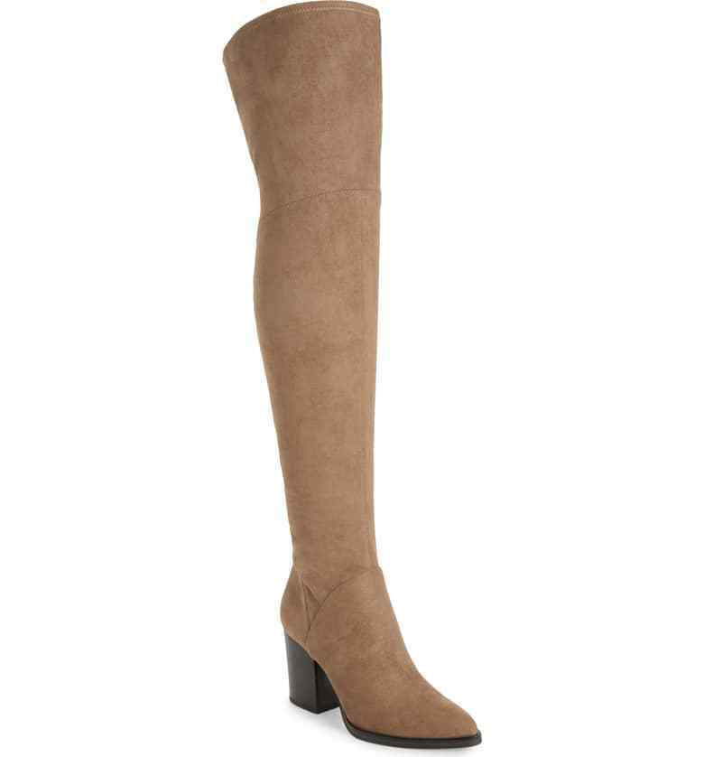 NEW Marc Fisher LTD Arrine Over-the-Knee Boot, Tan, Women Size 7,