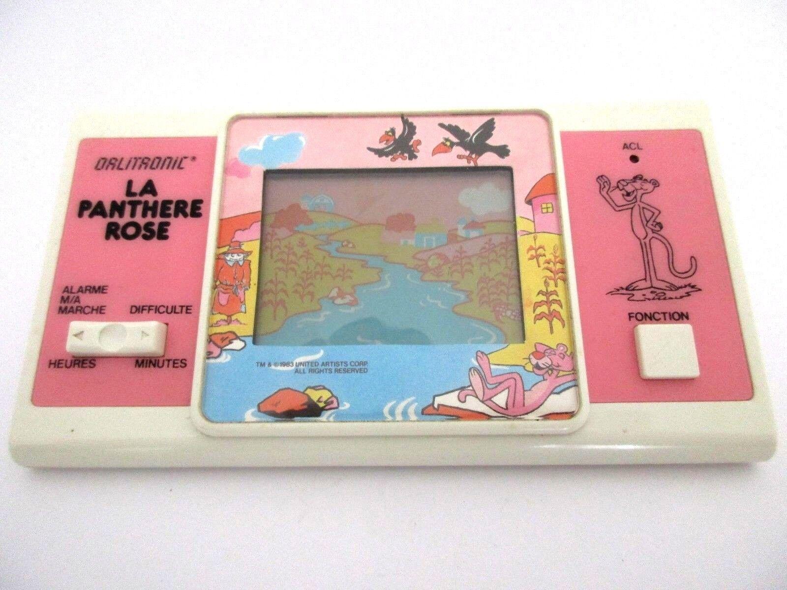 Juego Orlitronic la pantera rosadodo rosadododo ancha pantalla LCD Game-tiger 1984