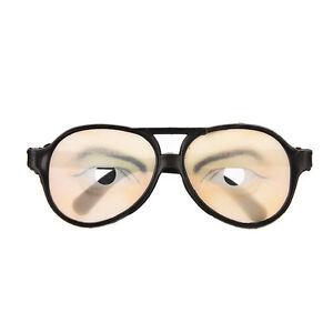 Funny Disguise Glasses Christmas Halloween Joke Gift Secret Santa wonky eyes new