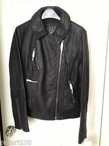 UGG WOMEN LEXINGTON II LEATHER BIKER JACKET COAT BLACK Size S - TAG ... b0f8a6306