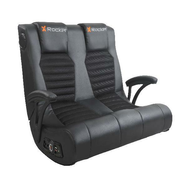 Pleasant X Rocker Dual Commander 2 Seat Gaming Chair With Speakers And Subwoofer Dailytribune Chair Design For Home Dailytribuneorg