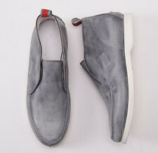 NIB $1290 KITON Antiqued Gray Leather Slip-On Chukka Boots US 9 D (IT 8) Shoes