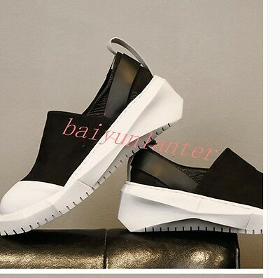 New Fashion Mens Slip On Platforms Casual Loafers Sports Round Toe Running Shoes