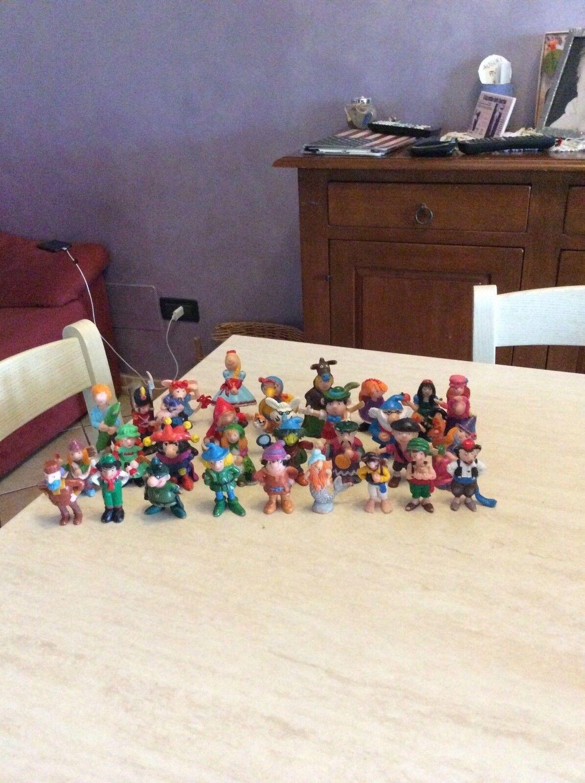 Rarissimo lotto 32 personaggi delle favole in gomma dura JUPLAY made in spain