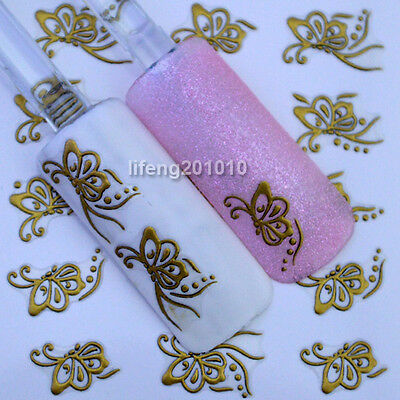 3D Nail Art Stickers Decals For Nail Tips Decoration Matt Butterfly Design YJ016