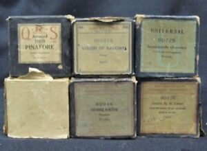 Lot-of-6-Large-Vintage-Older-Player-Piano-Rolls-Pinafore-Semiramide-Salome