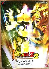 DRAGONBALL Z BUDOKAI 2 RARO SONY PS2 0,5 cm x 73 cm giapponese PROMO poster # 5