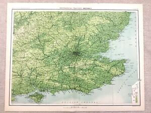 Details About 1890 Antique Map Of London Home Counties South England 19th Century Original